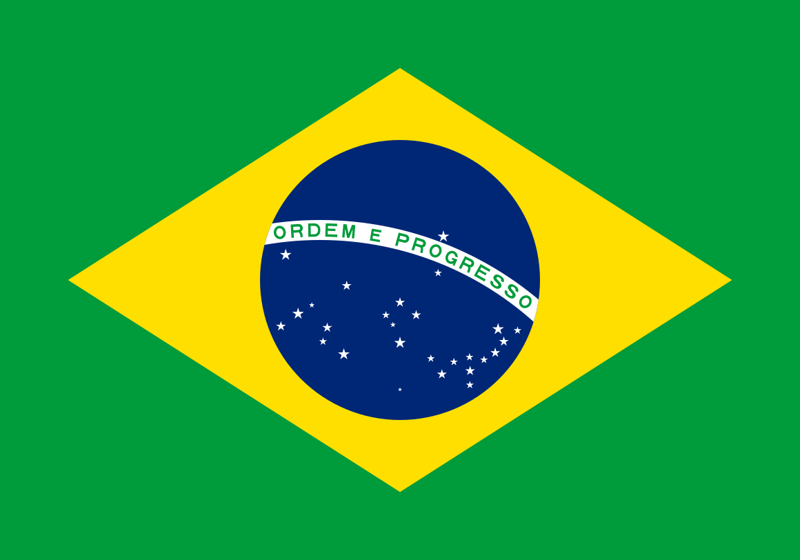 Brazil flag - Portugese language