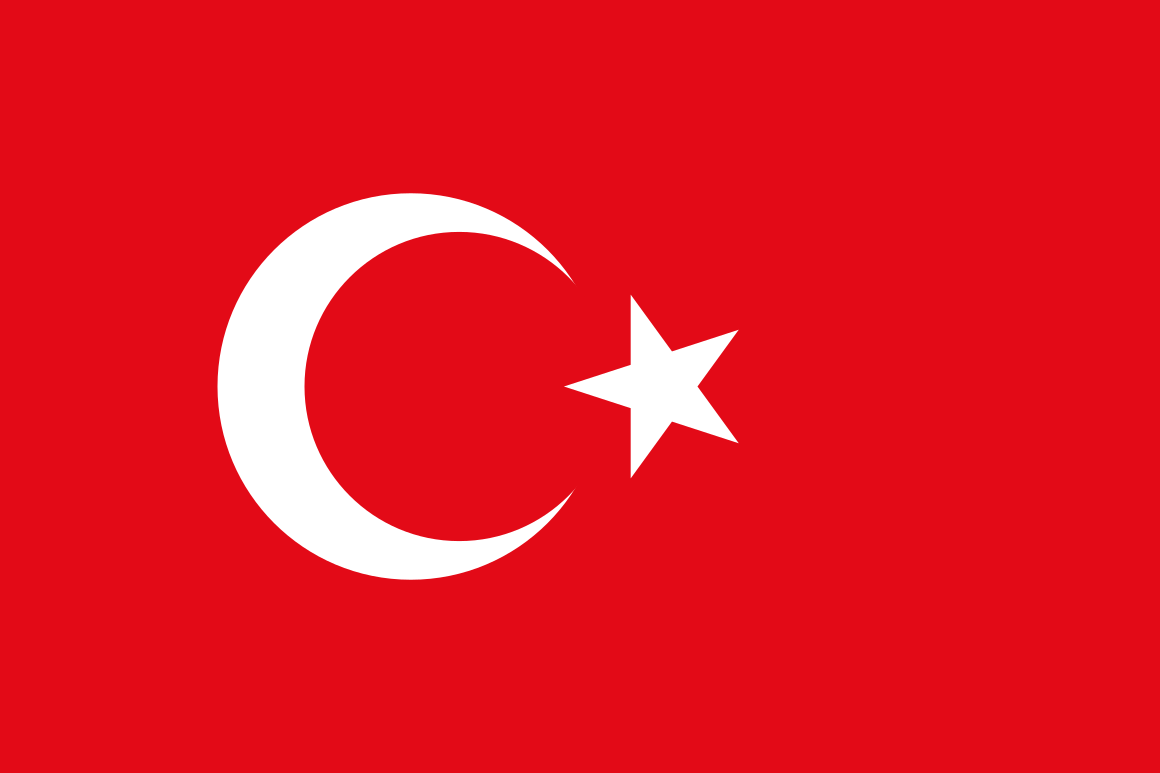 Turkish flag - Turkish language